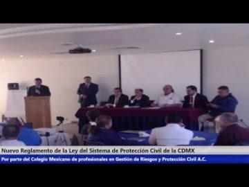 Nuevo Reglamento de la Ley del Sistema de Protección Civil de la CDMX